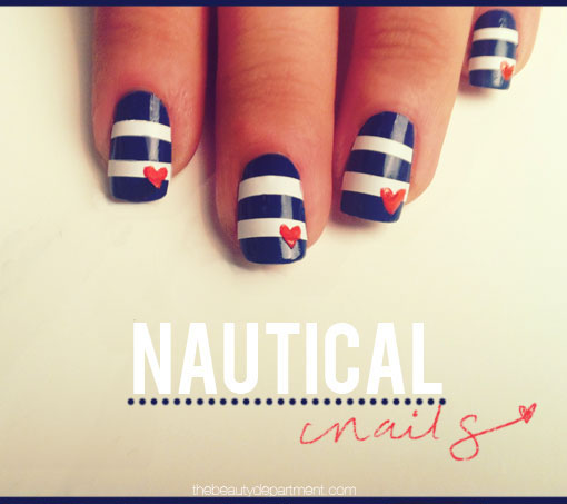 Beauty How-Tos: Nautical Nail Designs - Beauty How-Tos: Nautical Nail Designs City Girl Savings