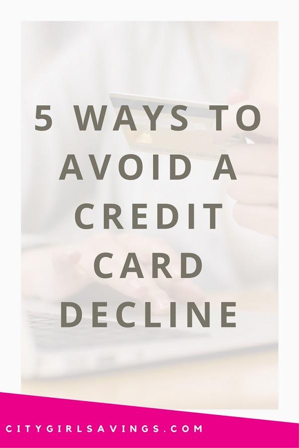 avoid a card decline