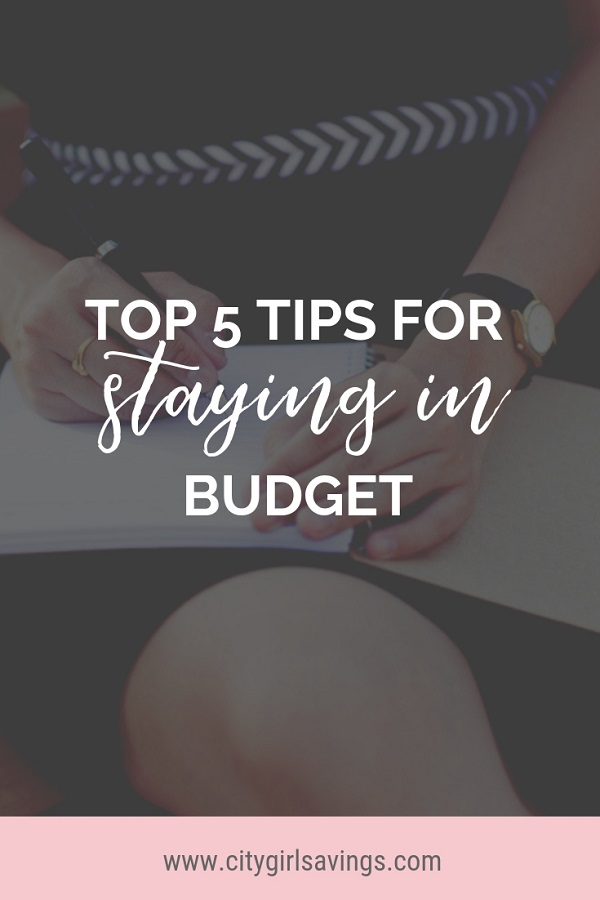 tips for staying on budget