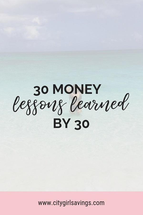 money lessons I learned