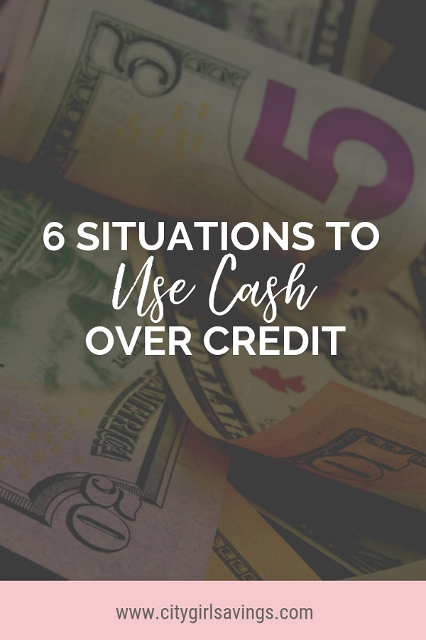 use cash over credit