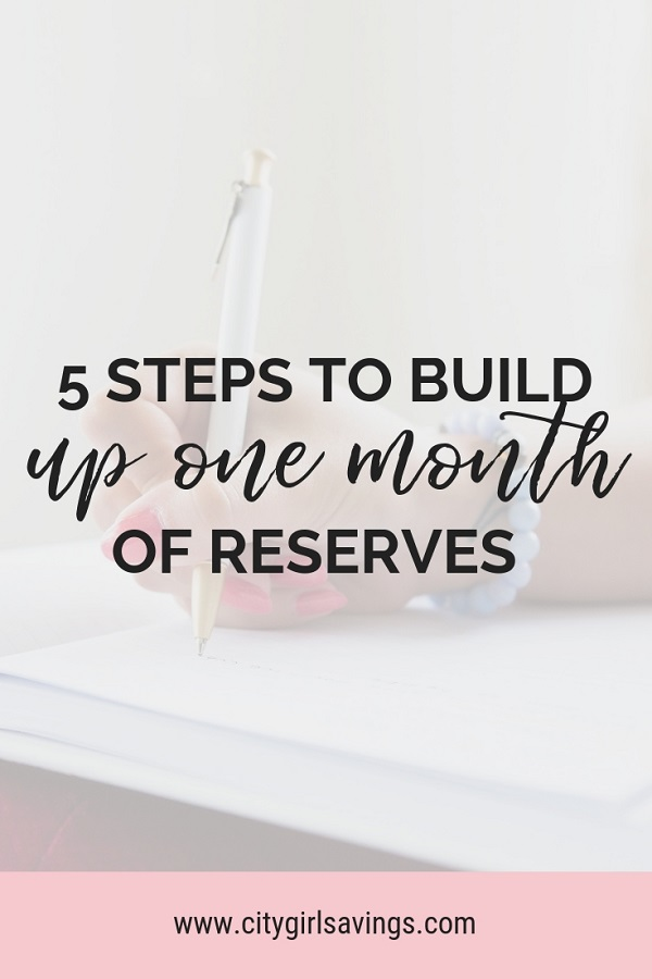 one month of reserves