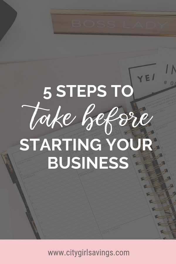 before starting a business