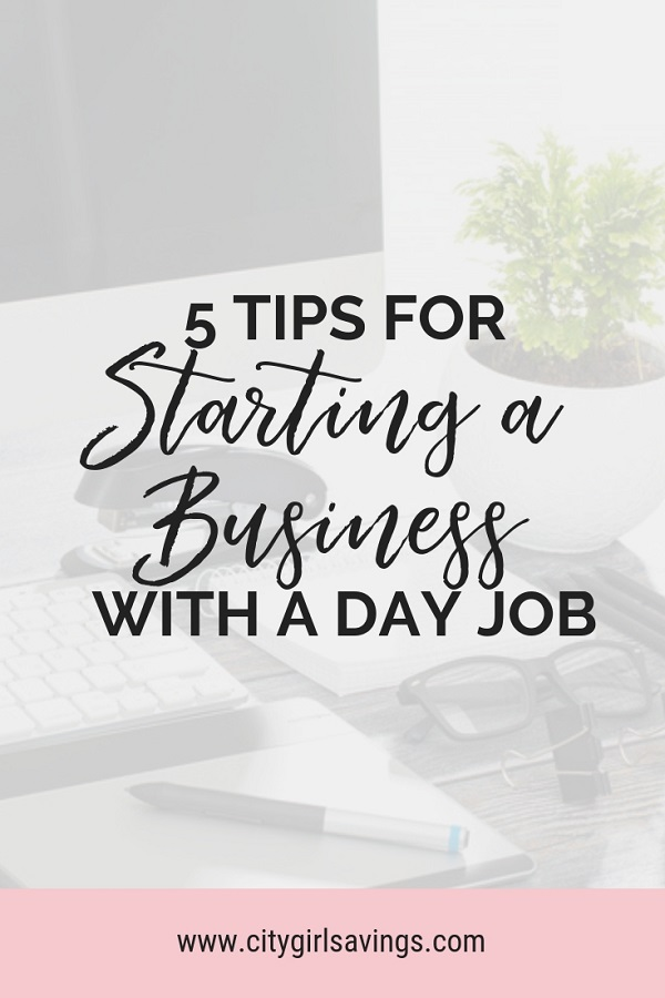 starting a business with a day job