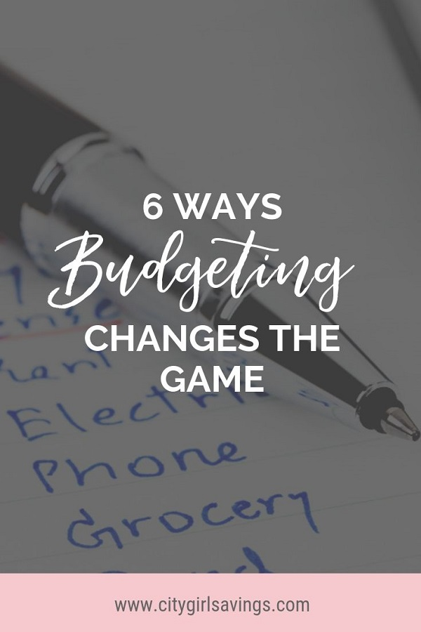 budgeting changes the game