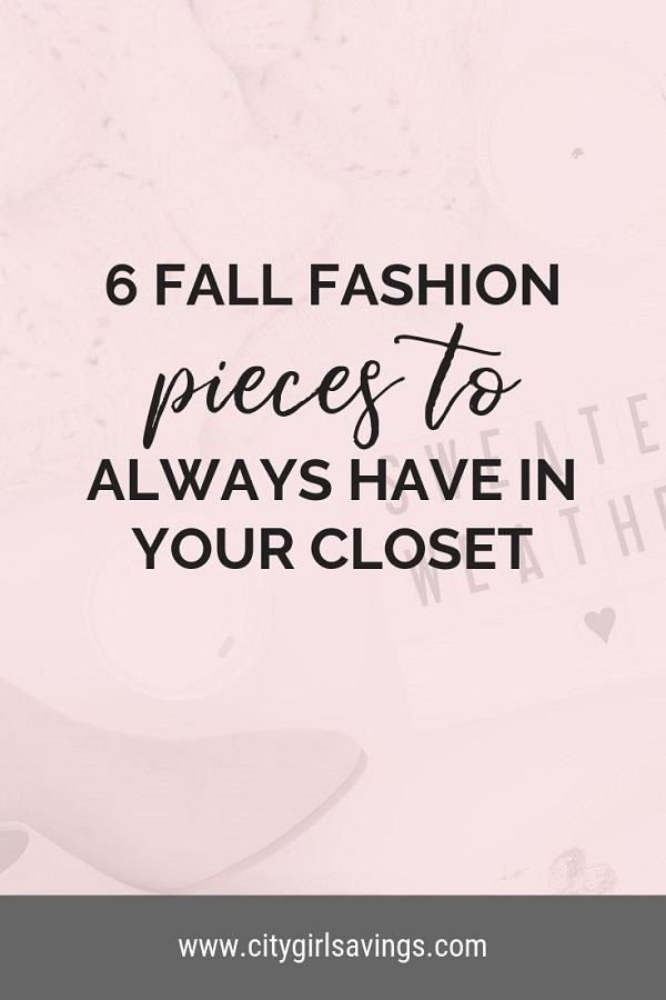 fall fashion pieces