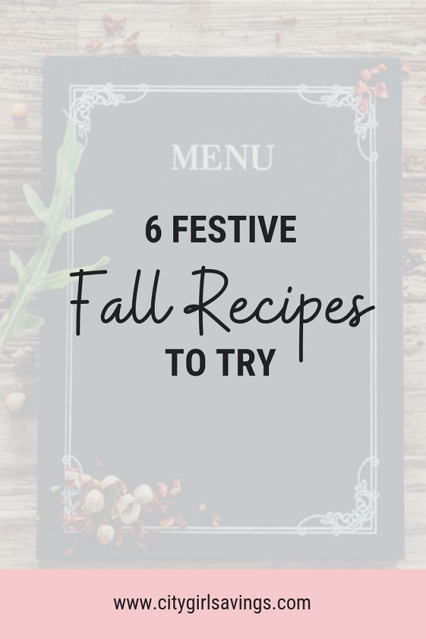 festive fall recipes