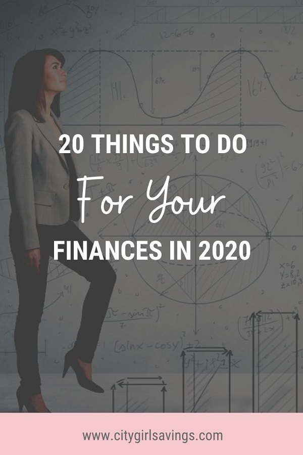 Things to Do for Your Finances in 2020