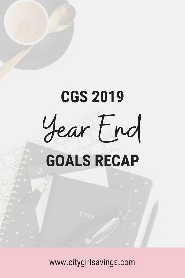 CGS Year End Goals Recap